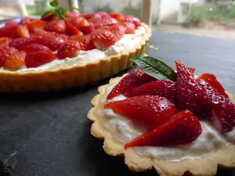Strawberry Ricotta Tart with Lemon Verbena Essence | Biscuits and ...